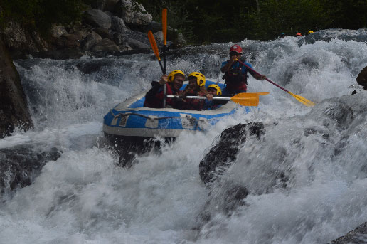 mini-raft sixt fer a cheval